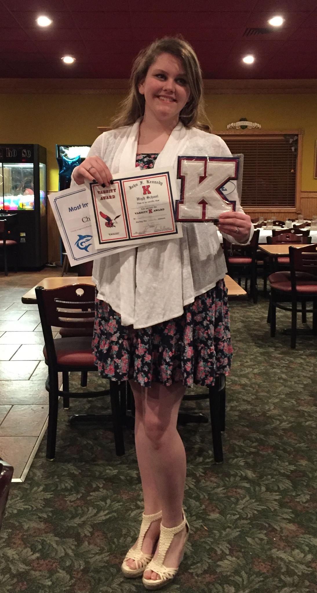 angela-read-osborne Pia\'s Ristorante Italiano Proud to get letter from Kennedy Highschool