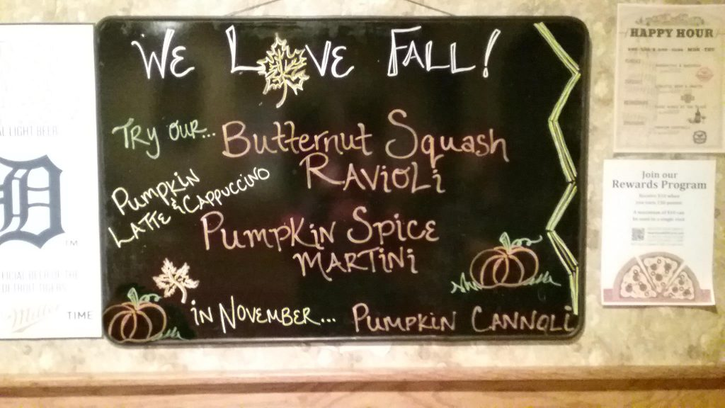 Fall dinner and drink specials