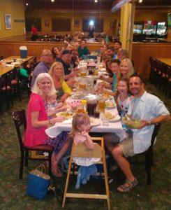 Restaurant family dinner - Spring Dahlka Gardner