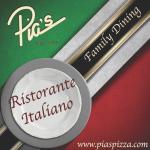 Pias pizza dining menu